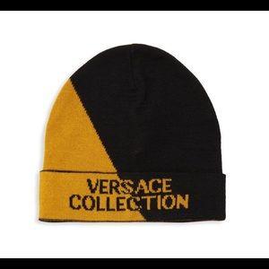 0ada78182e1 Versace Collection Two-Tone Logo Beanie